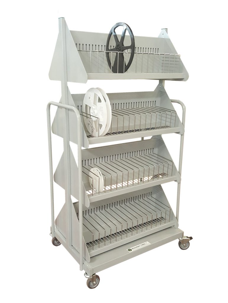 Lineside Compact Double Sided Mobile Reel Rack - 825-60